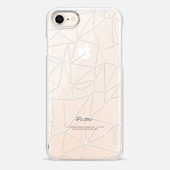 iPhone 8 Case Abstraction Outline White Transparent