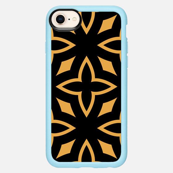 iPhone 7 Plus/7/6 Plus/6/5/5s/5c Case - Black Orange Abst...