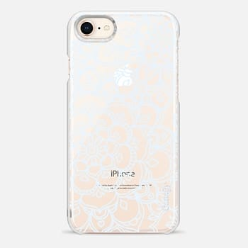 iPhone 8 Case White Lace Doodle
