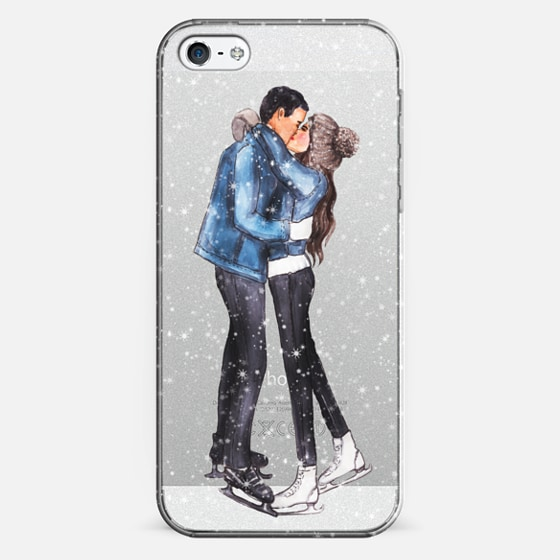 iPhone 7 Plus/7/6 Plus/6/5/5s/5c Case - Couple on ice