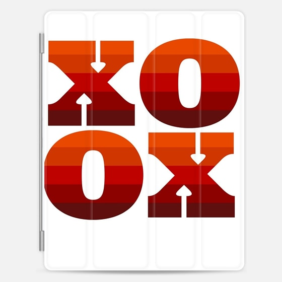 Casetify iPad Cover / Case - XOXO Red Palette