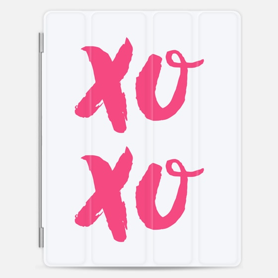 Casetify iPad Cover / Case - Xoxo pink
