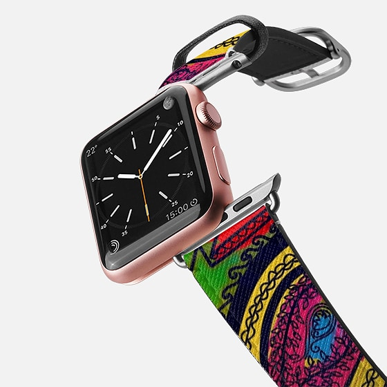 Casetify Saffiano Leather Watch Band - DIP IN Colors