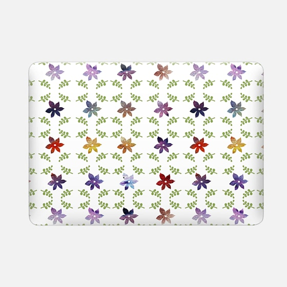 Macbook Case - Abstract modern colorful watercolor floral...