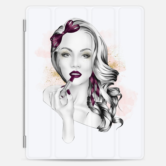 Casetify iPad Cover / Case - Makeup Fashion Illustration ...