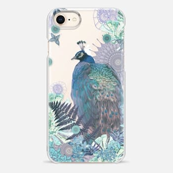 iPhone 8 Case PEACOCK TIFFANY MINT Crystal Clear iPhone Case