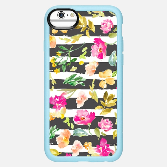 iPhone 7 Plus/7/6 Plus/6/5/5s/5c Case - Meadow Stripe Wat...