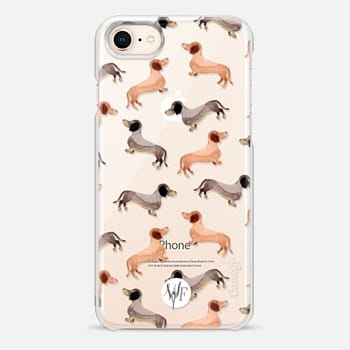 iPhone 8 Case Darling Dachshunds - Transparent Case by Wonder Forest