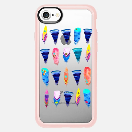 iPhone 7 Plus/7/6 Plus/6/5/5s/5c Case - Candy Feather