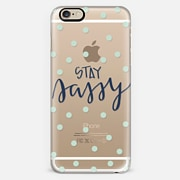 stay sassy - mint dots
