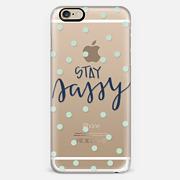 stay sassy - mint dots