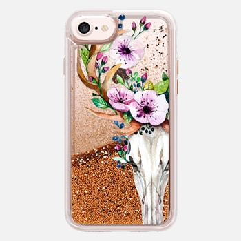 iPhone 7  Deer Head Skull and Floral