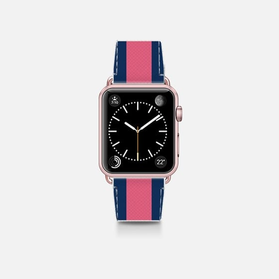 Stripes - Saffiano Leather <br> Apple Watch Band 38mm / 42mm