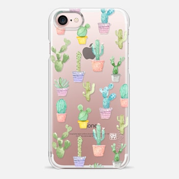 iPhone 7 Case Watercolour pastel cactus hot summer by imushstore
