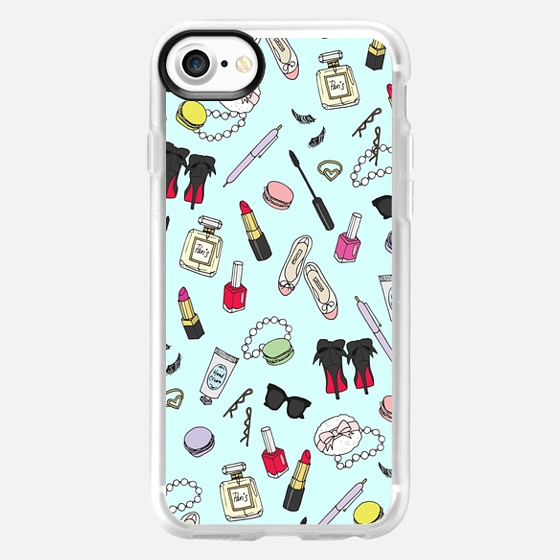 Girly Things Blue - Classic Grip Case