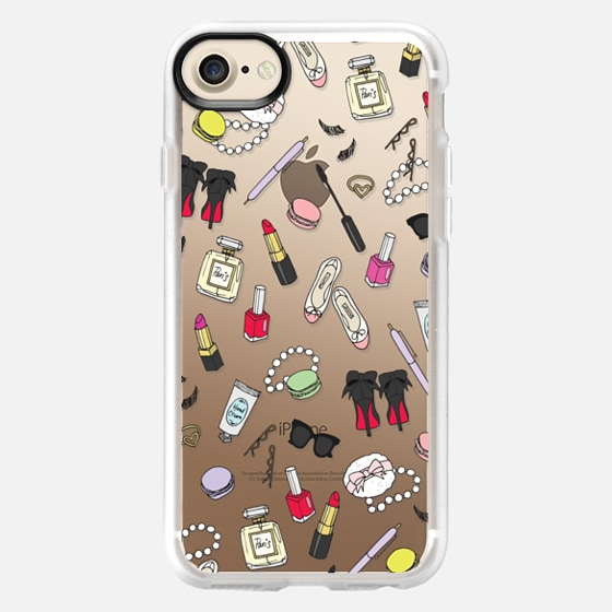Girly Things Clear Protective Case - Snap Case