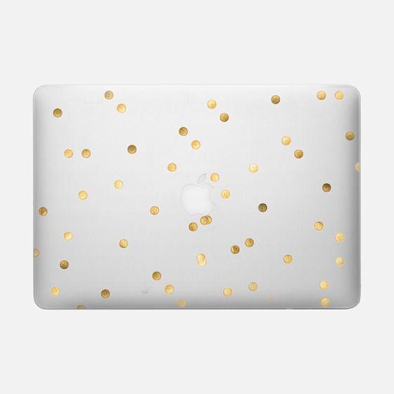 Golden Dots Clear - Macbook Snap Case