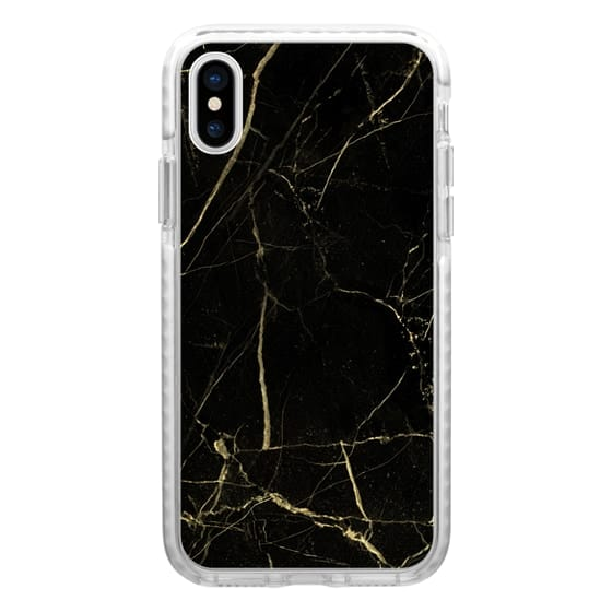 iPhone 7 Plus Cases - Black Marble with gold