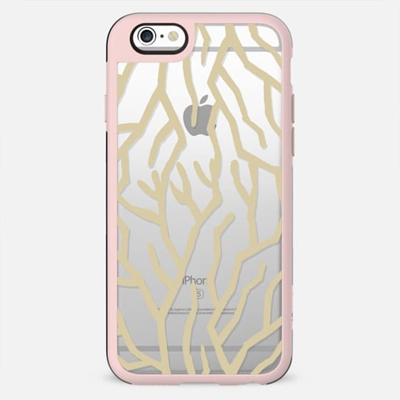 Golden Coral Clear Case