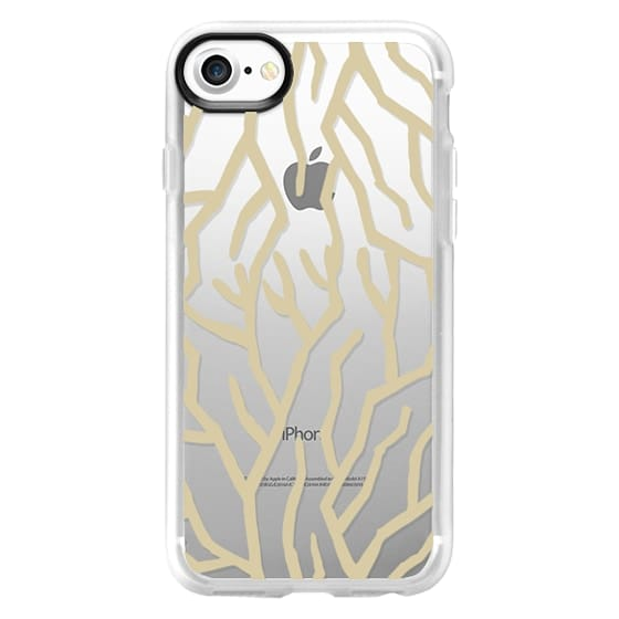 iPhone 7 Plus Cases - Golden Coral Clear Case