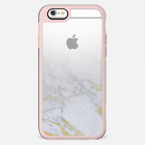 Marble with pieces of gold fade clear case