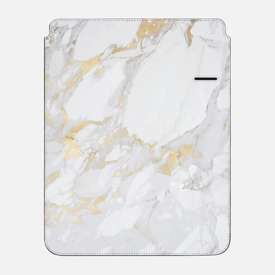 "iPad Pro 12.9"" Hülle - Marble with gold"