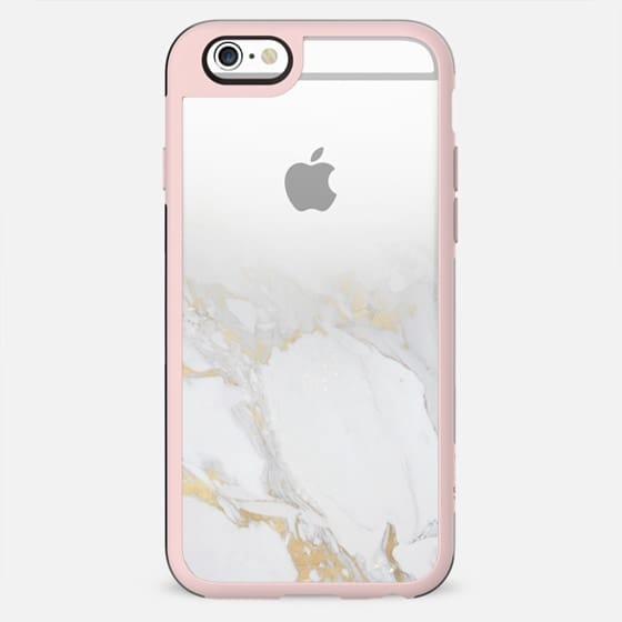 Marble with gold fade clear case - New Standard Case