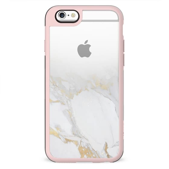 Marble with gold fade clear case