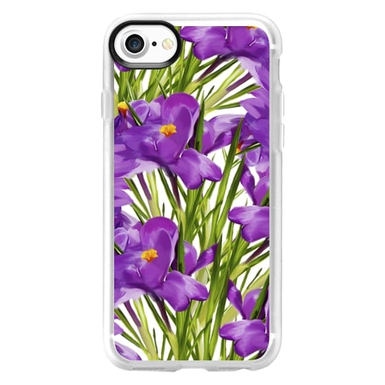 iPhone 6s Cases - Purple Flowers Botanic Painting