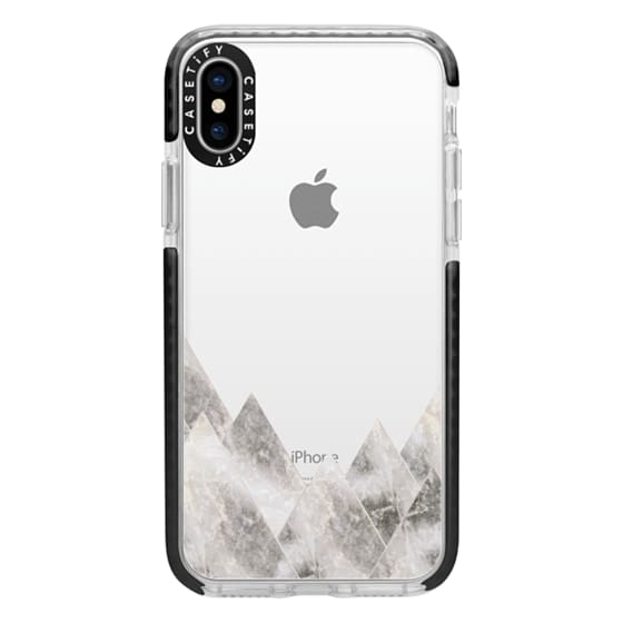 iPhone X Cases - Marble Mountains