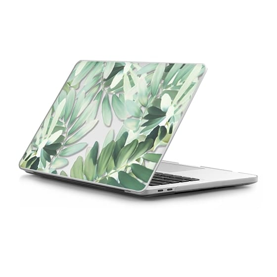 MacBook Pro Touchbar 13 Sleeves - Jungle Paint botanical nature Clear case