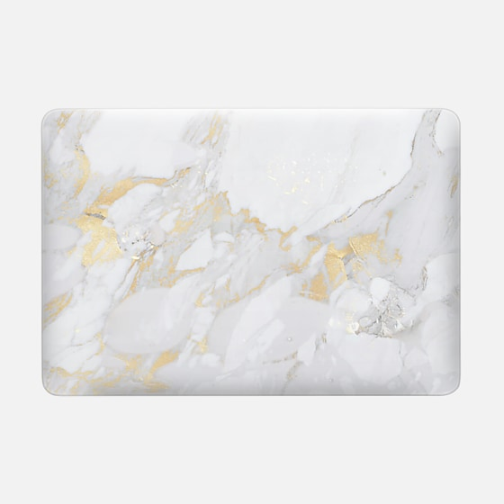 Macbook Pro 13 Case - Marble with gold