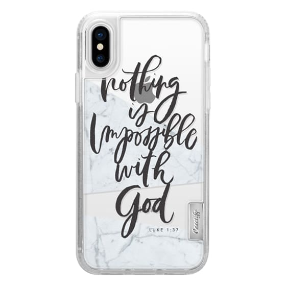 iPhone X Cases - Nothing is Impossible with God