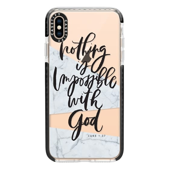 iPhone XS Max Cases - Nothing is Impossible with God