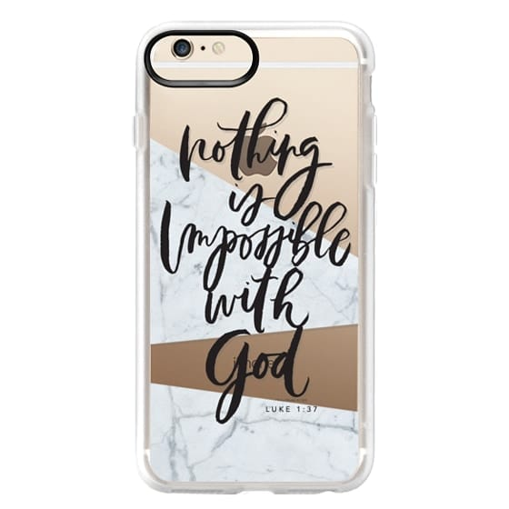 iPhone 6s Plus Cases - Nothing is Impossible with God