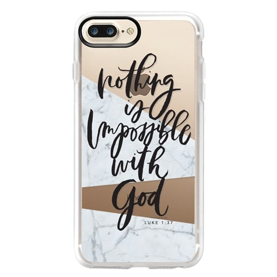 iPhone 7 Plus Cases - Nothing is Impossible with God