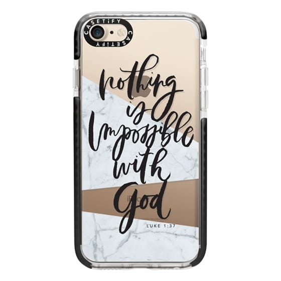 iPhone 7 Cases - Nothing is Impossible with God
