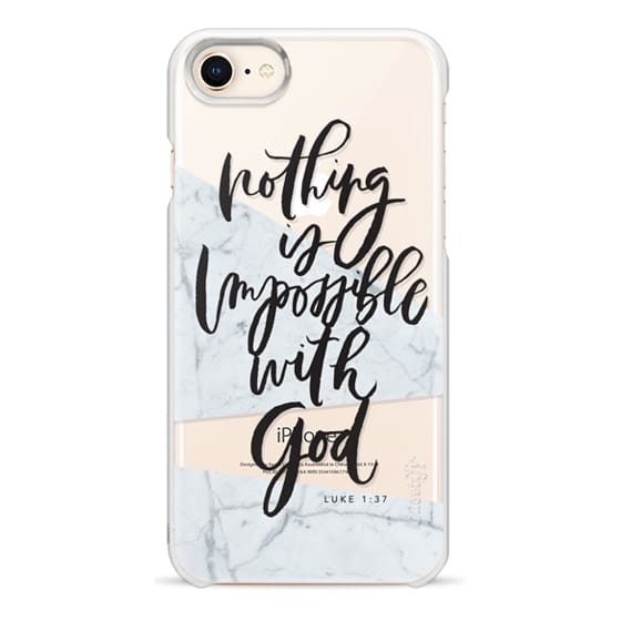 iPhone 8 Cases - Nothing is Impossible with God