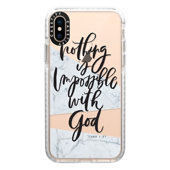 iPhone XS Cases - Nothing is Impossible with God