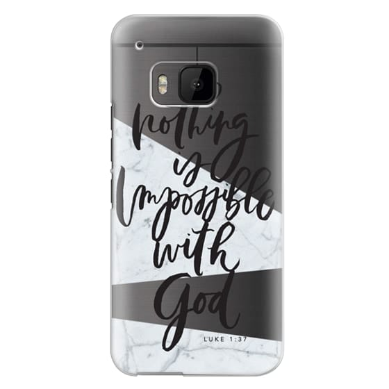 Htc One M9 Cases - Nothing is Impossible with God