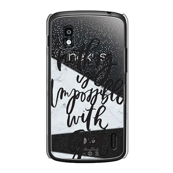 Nexus 4 Cases - Nothing is Impossible with God