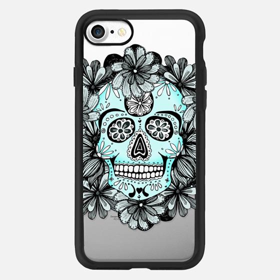 Anchobee Blue Flower Skull -