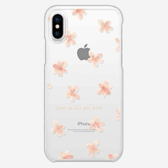 Watercolor flowers Love is all you need - Snap Case