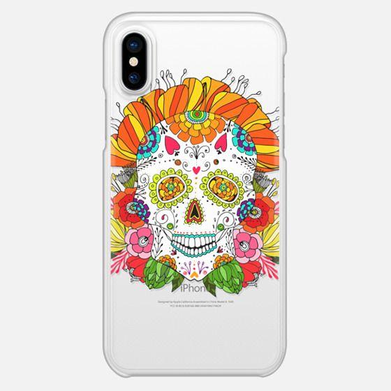 Anchobee Color Flower Skull - Snap Case