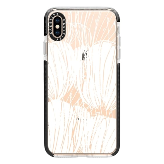 iPhone XS Max Cases - White Poppies