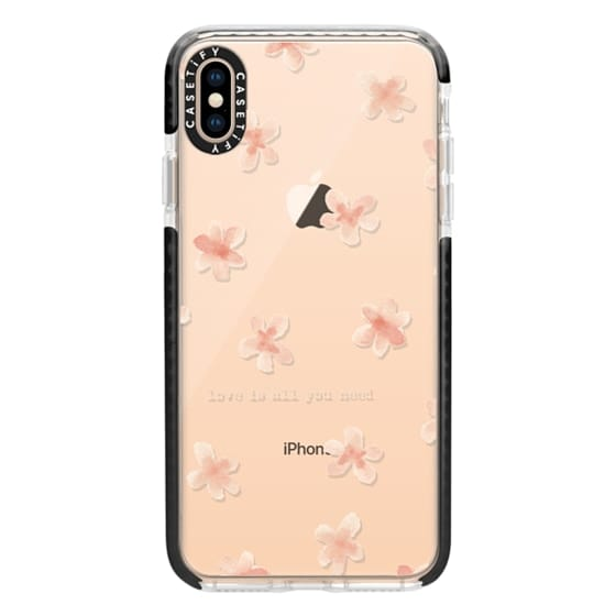 iPhone XS Max Cases - Watercolor flowers Love is all you need