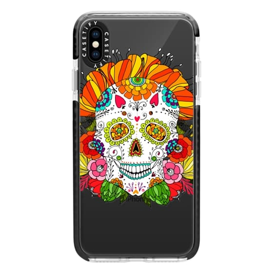 iPhone XS Max Cases - Anchobee Color Flower Skull