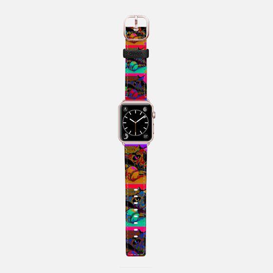 Pop Art Baseball - Saffiano Leather Watch Band