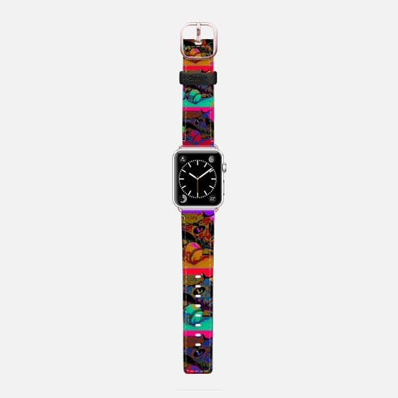 Pop Art Baseball - Saffiano Leather Watch Band
