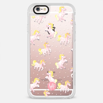 iPhone 6s ケース Magical Unicorns Transparent Case by Wonder Forest